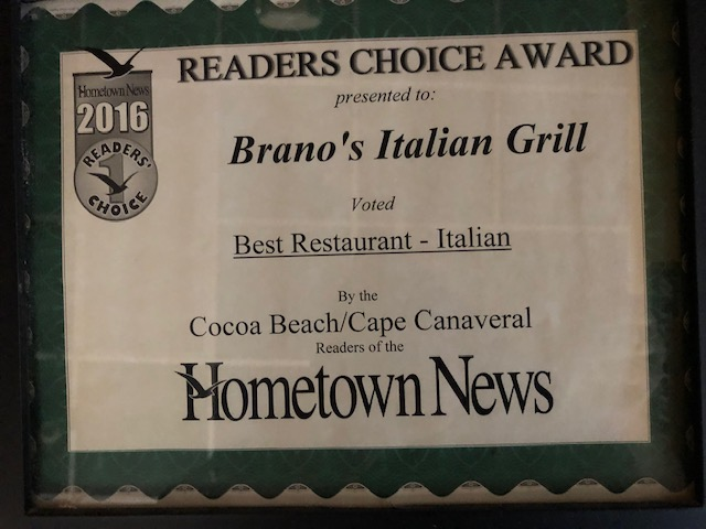 About Us ⋆ Brano's Italian Grill